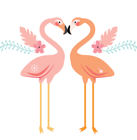 Corinne Sovey  |  Spoonflower Flamingos