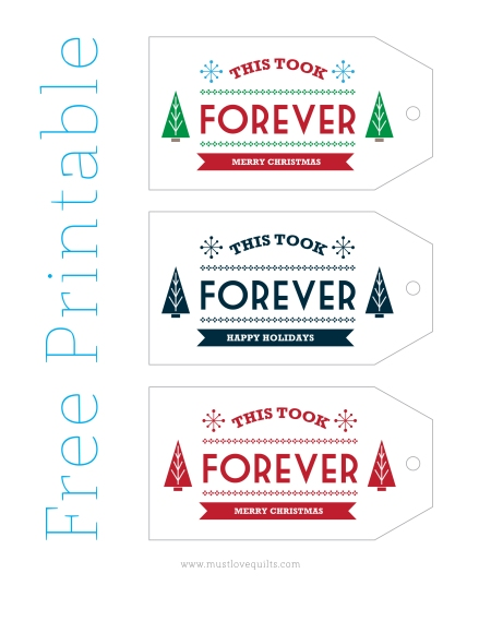 Free Gift Tag Printable | Must Love Quilts