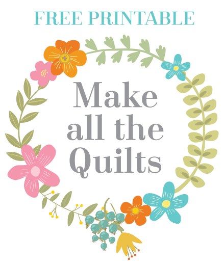 FREE PRINTABLE  |  Must Love Quilts