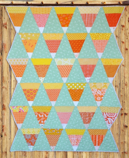 Candy Corn Quilt | Must Love Quilts | By Corinne Sovey